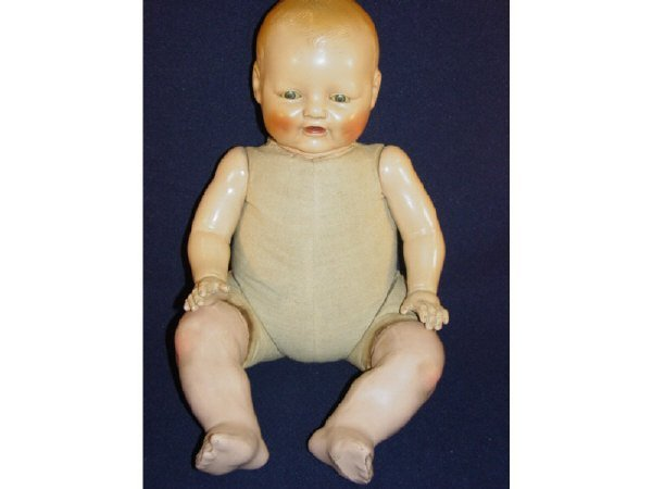 """662: E.I.H. HORSMAN DOLL CO BABY DIMPLES-18"""" - 9"""