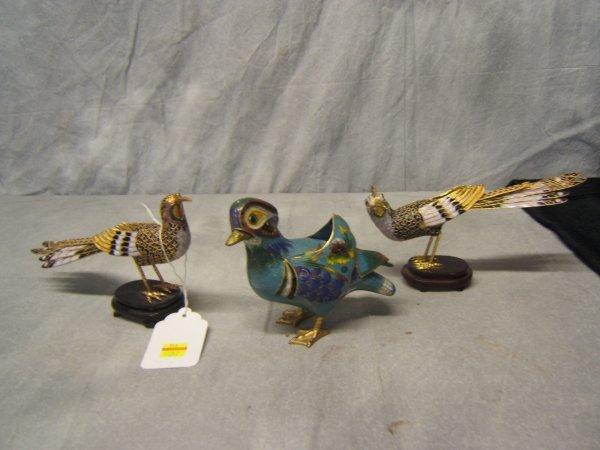11: 3 Cloisonne Birds
