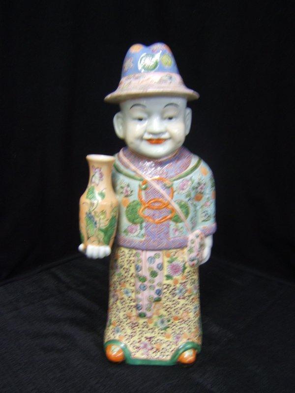 13: Enameled Porcelain Figurine of Oriental Man