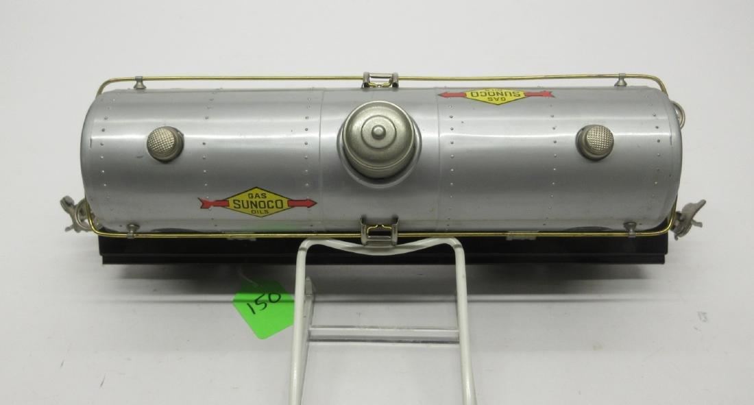 LIONEL 215 OIL CAR IN SILVER W SUNOCO DECALS OB - 4