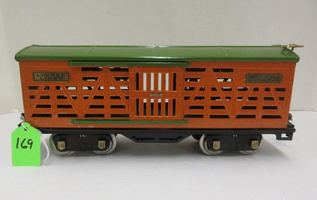 LIONEL 513 STOCK CAR GREEN OVER ORANGE