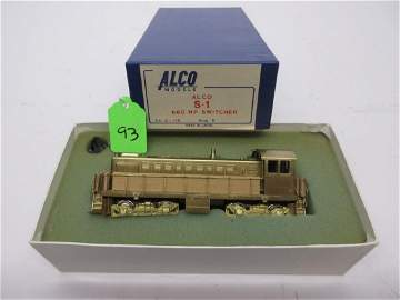 ALCO MODELS ALCO S-1 BRASS HO 660HP SWITCHER OB