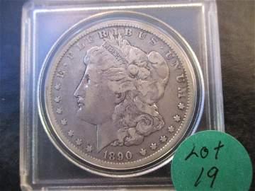 1890o CC Morgan Dollar