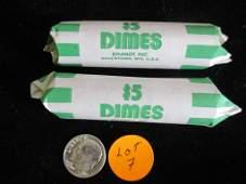 2 Rolls Silver Dimes