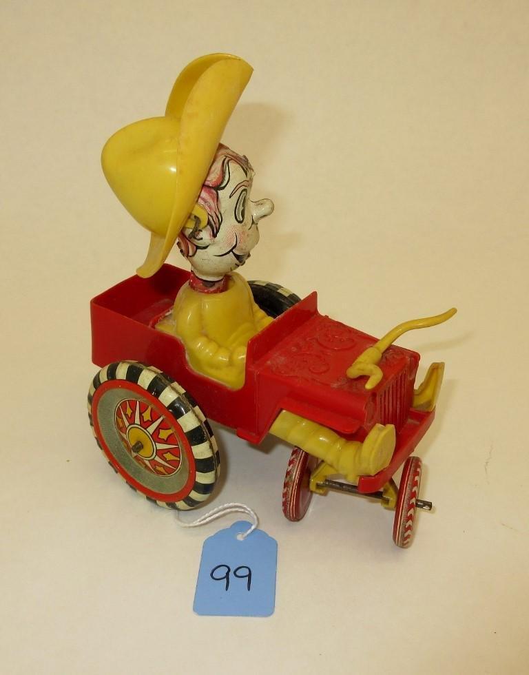 MARX CRAZY COWBOY WIND-UP CAR