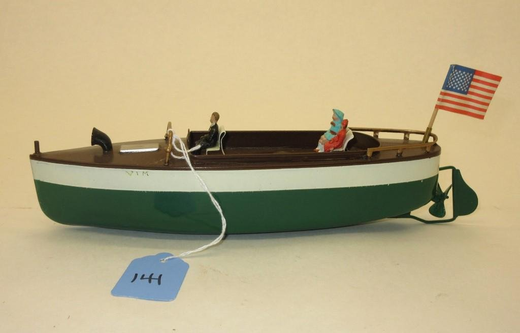 """TIN SHIP TOY - APPROX 10"""" IN LENGTH"""