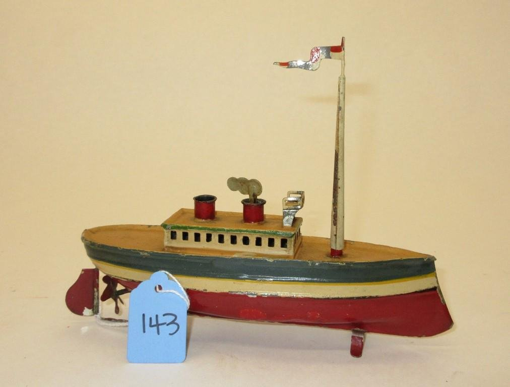 """TIN SHIP TOY - APPROX 8"""" IN LENGTH"""