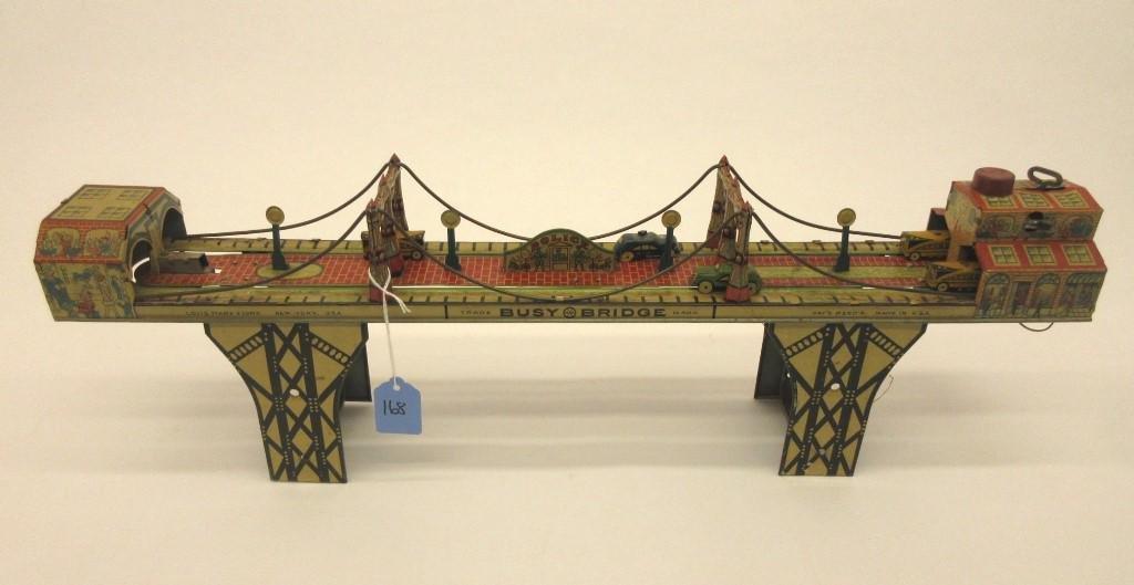 MARX BUSY BRIDGE TIN TOY