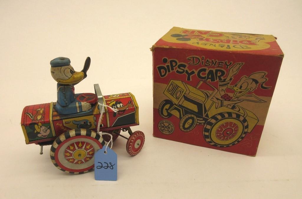 MARX DISNEY DONALD DUCK DIPSY CAR OB