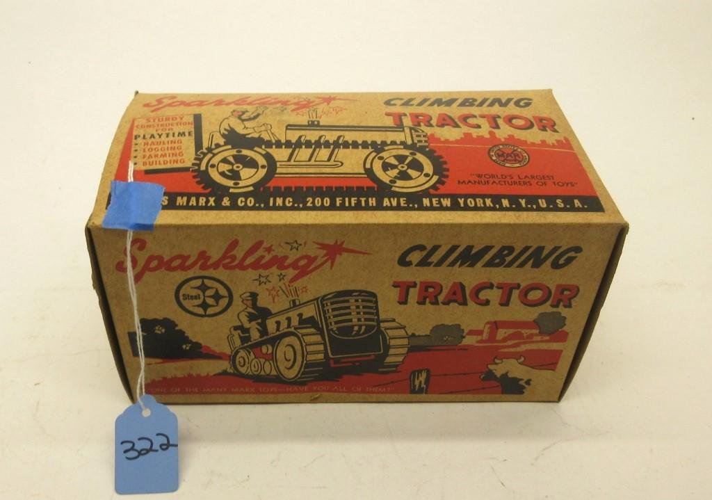 MARX SPARKLING CLIMBING TRACTOR UNOPENED BOX