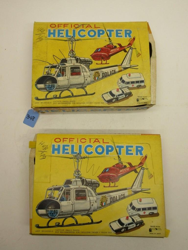 17 TIN FIRE & POLICE HELICOPTERS IN 2 STORE DISPLAY