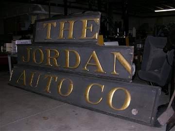 335: Jordan Auto Company Sign