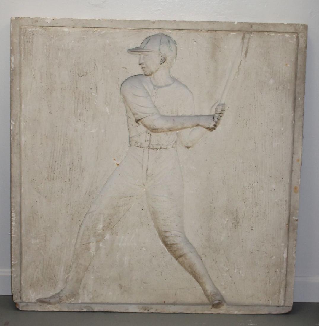 Interesting late 19thC bronze mold w baseball player