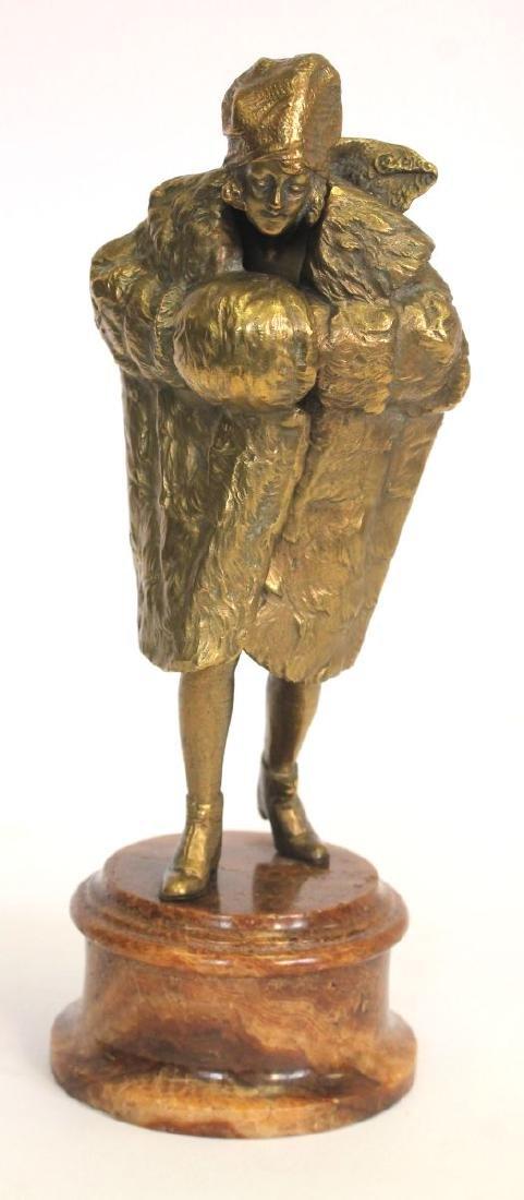 "sgnd ""Austria"" attrib Bergman or Chiparus bronze"