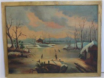 unsgnd attrib William Matthew Prior 19thC Folky winter