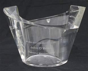 "Orrefors Presentation crystal vase - 9"" diam x 6"" tall"