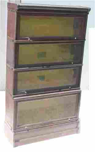 Antique Macy's mahog 4 section step back stacking