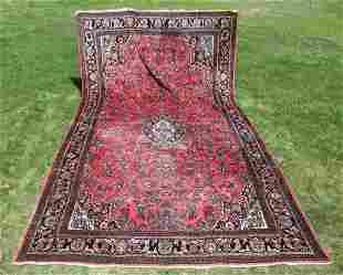 Very large semi-antique Persian Lilihan Oriental Rug