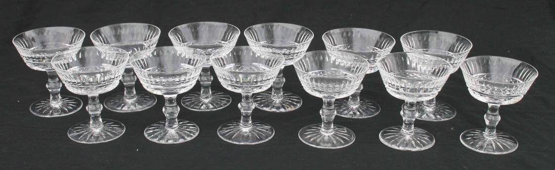 """set of 12 sgnd Waterford crystal sherbets - 5"""" tall"""