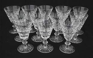 """set of 12 sgnd Waterford crystal wines - 5"""" tall"""