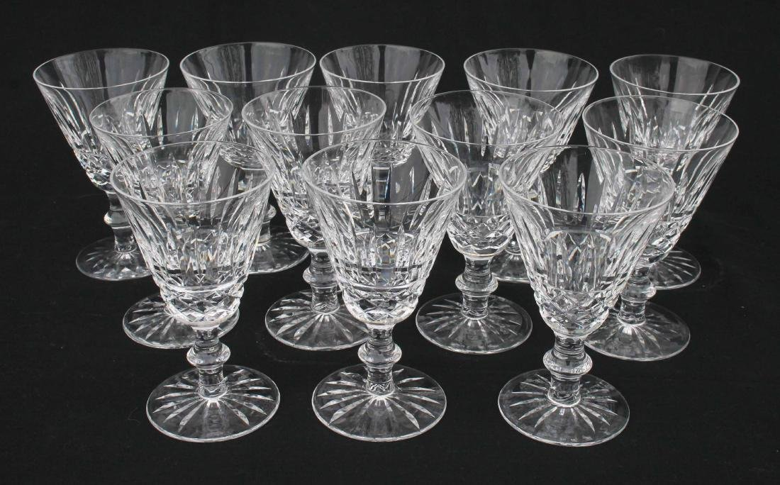 "set of 12 sgnd Waterford crystal wines - 5"" tall"