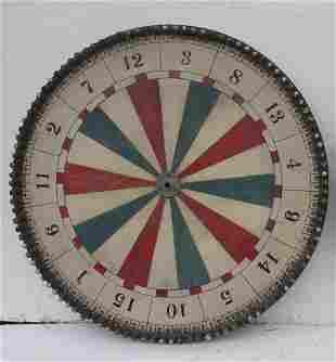 "Folk Art red, white & blue painted game wheel - 36"""