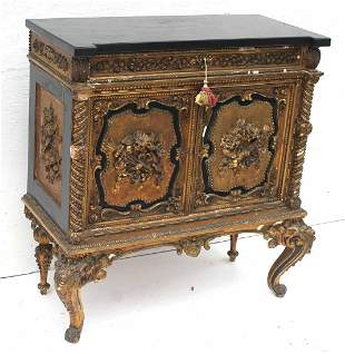 Very fancy Victorian rococco carved & gilded gesso