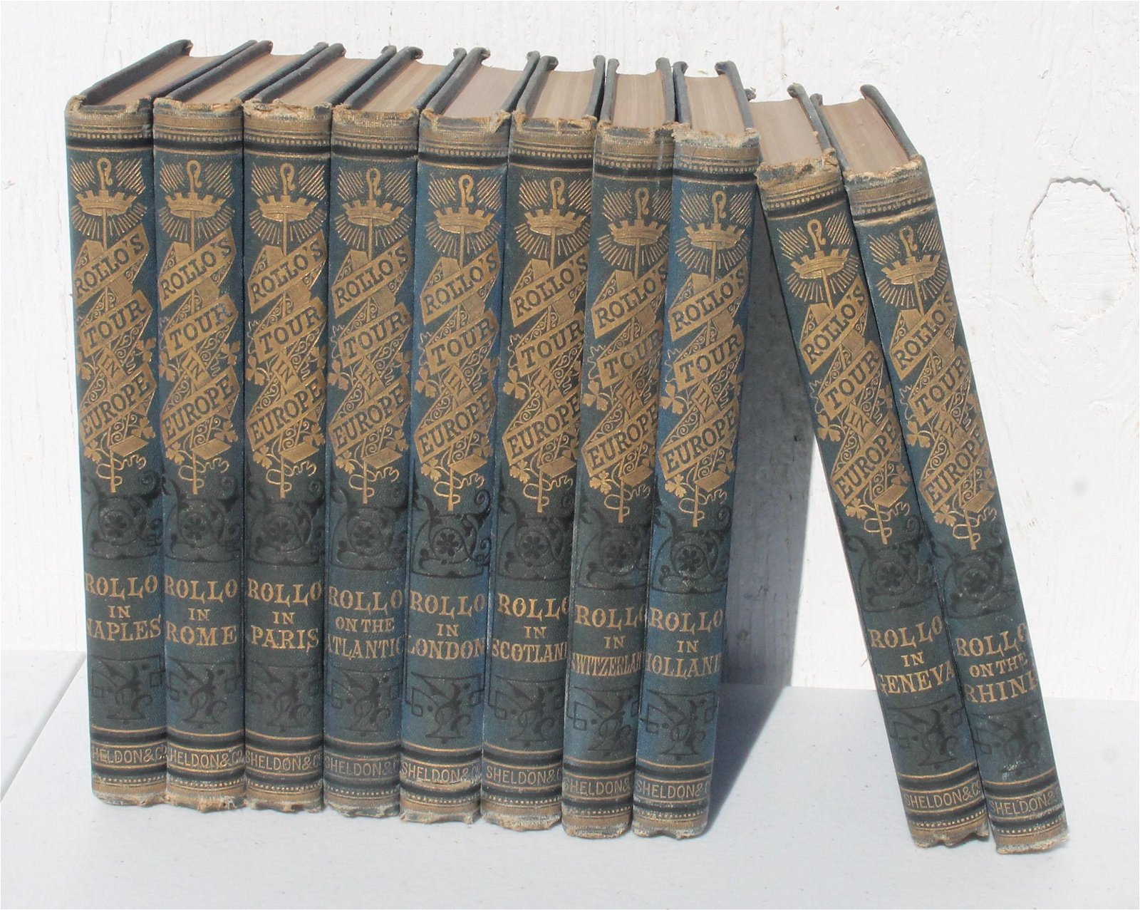 """set of 10 """"Rollo's Tour in Europe"""" dated 1870"""