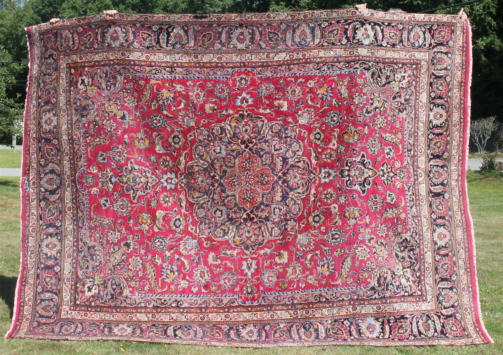 """9'4""""x12'6"""" semi antique Persian Mashed Oriental rm size"""