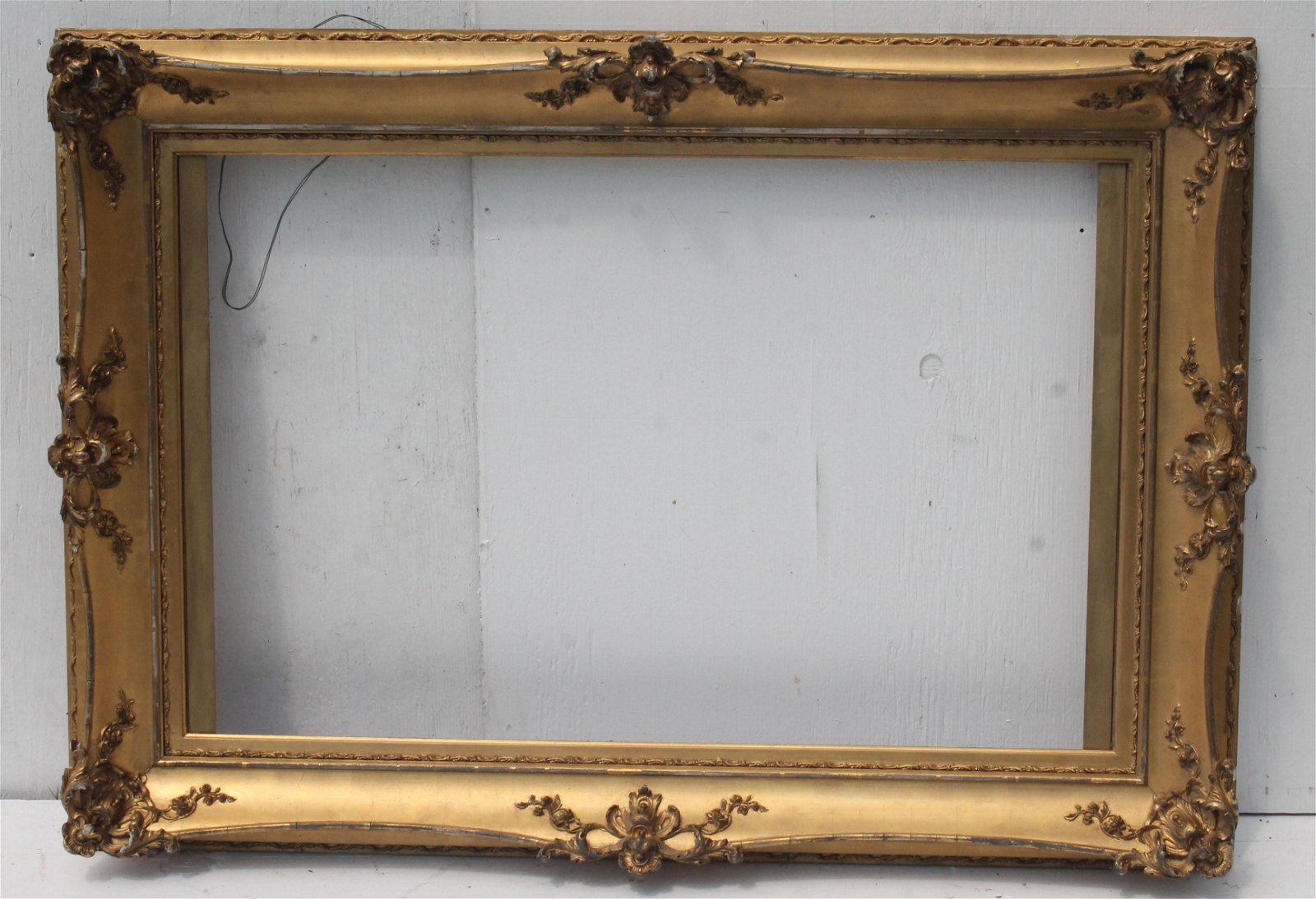"""beautiful antique gold carved frame - overall 34""""x48"""","""