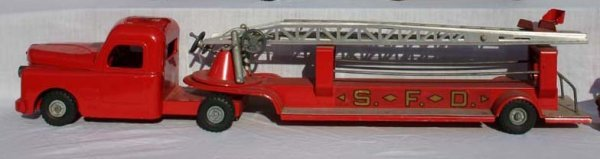 1: Structo pressed steel ladder truck