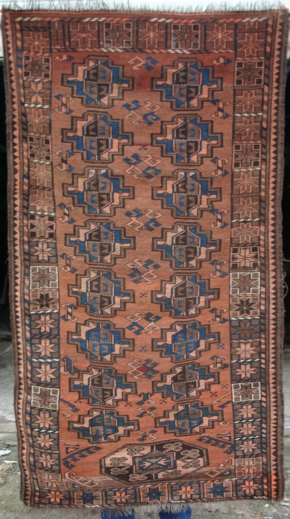 "13: 2'10""x5'3"" antique Oriental area rug"