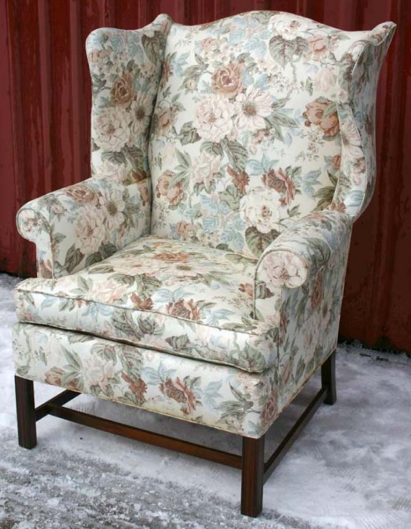 15: quality Chippendale style Hickory Chair Co wing cha