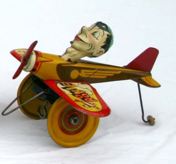 17: Excellent Marx Rookie Pilot tin wind up ca 1940