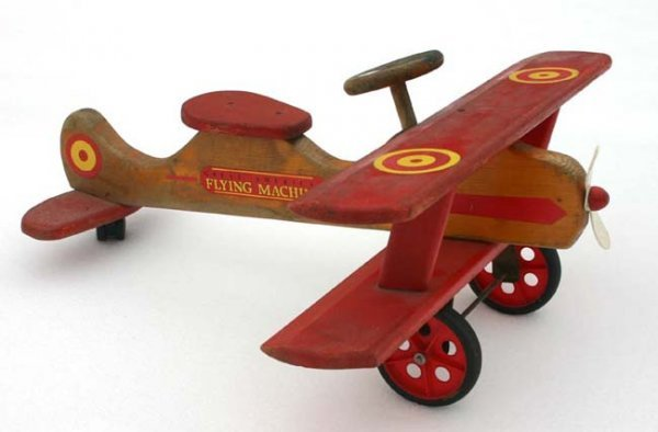 "5: ""Great American Flying Machine"" wooden ride em bipla"