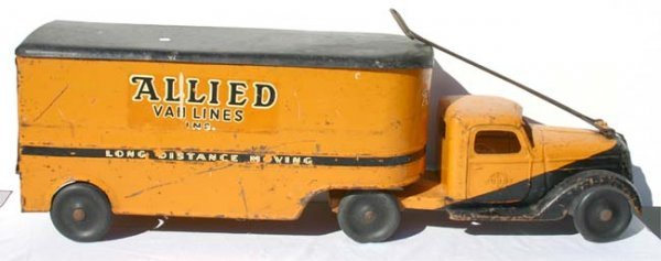 15: Buddy L Allied Van Lines trailer truck rare pull to