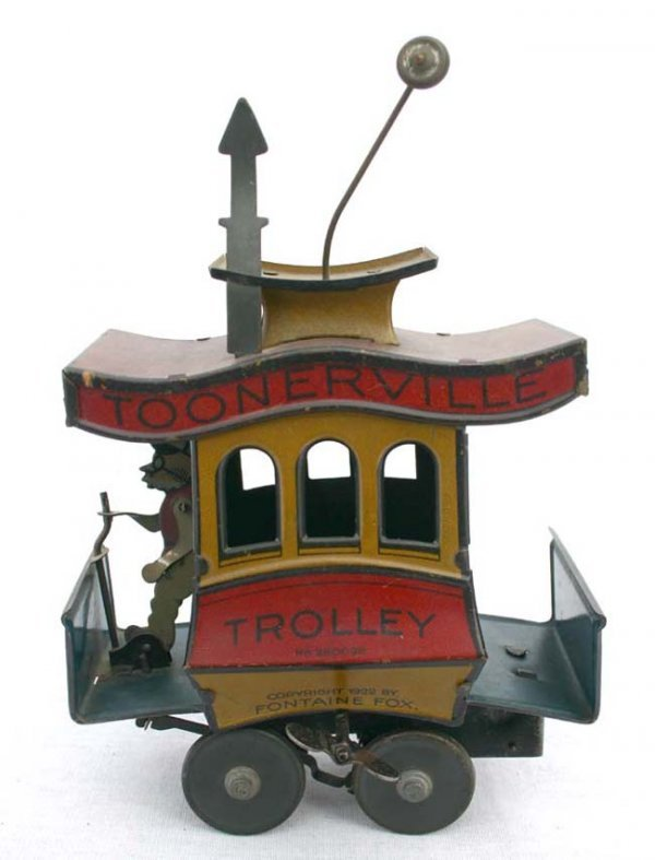 "121: Fontaine Fox ""Toonerville Trolley"" tin wind up - a"
