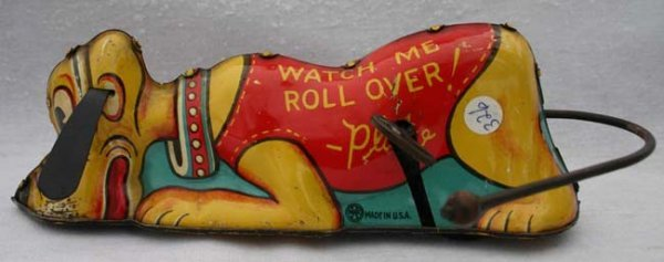 "156: Marx ""Watch Me Roll Over Pluto"" tin wind up - 8"""