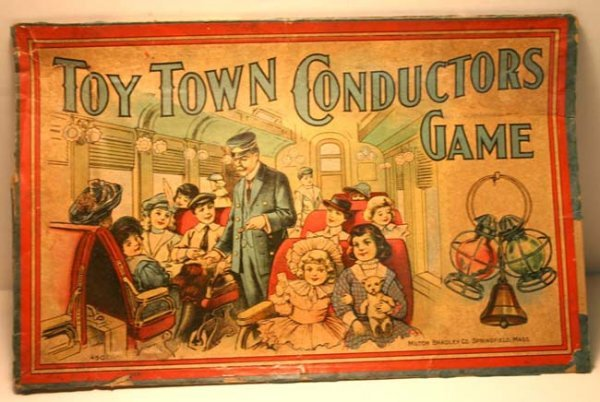 """331: """"Toy Town Conductor's Game"""" by Milton Bradley plus - 2"""
