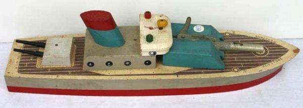 """595: US Navy Keystone wooden rocket ship 14"""" - 2"""