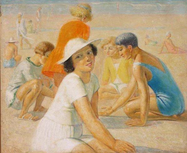 92: Emile Delobre (French Impressionist 1873-1956) 29 x