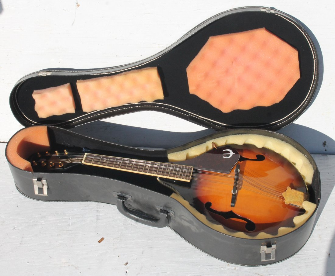 Epiphone mandolin in case