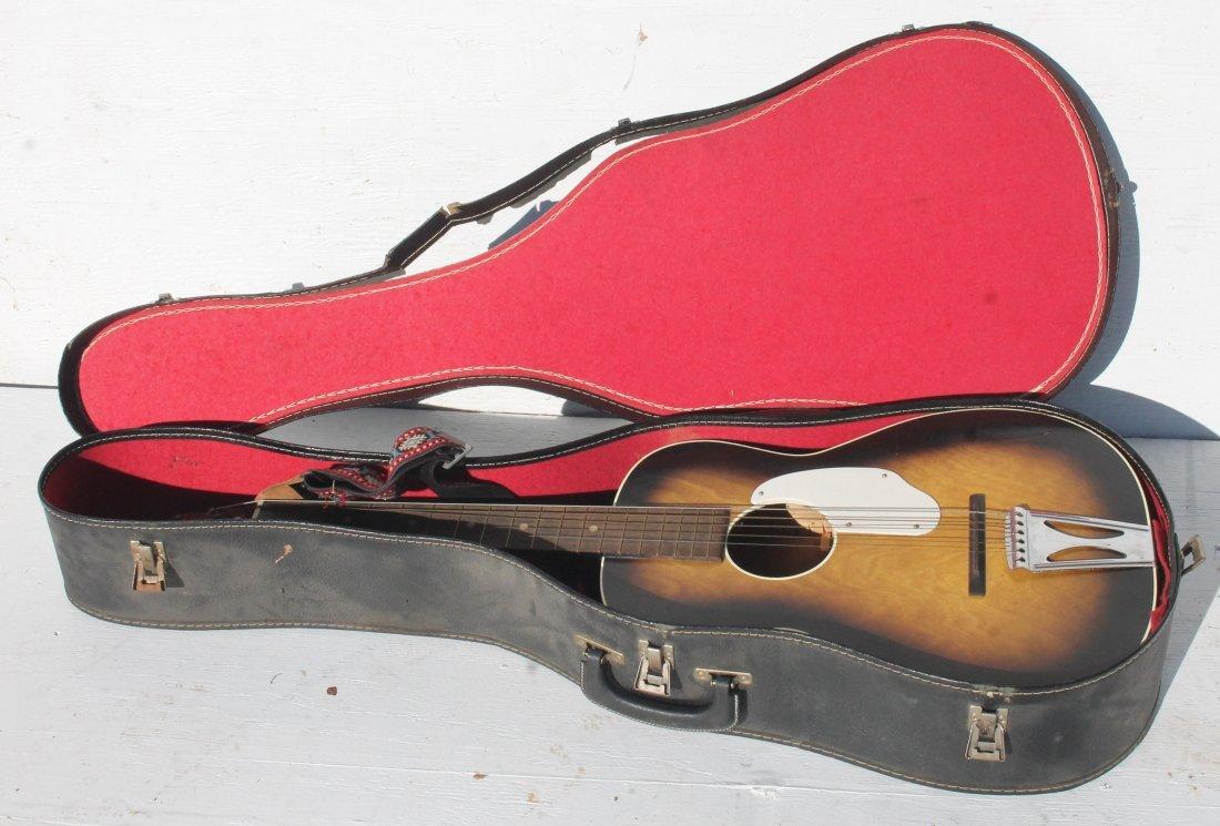Fender acoustic guitar in case