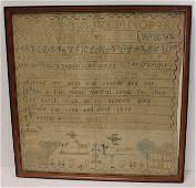 Early American sampler w great African American
