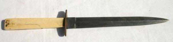 1014: Sheffield dirk knife marked on blade ca 1850's