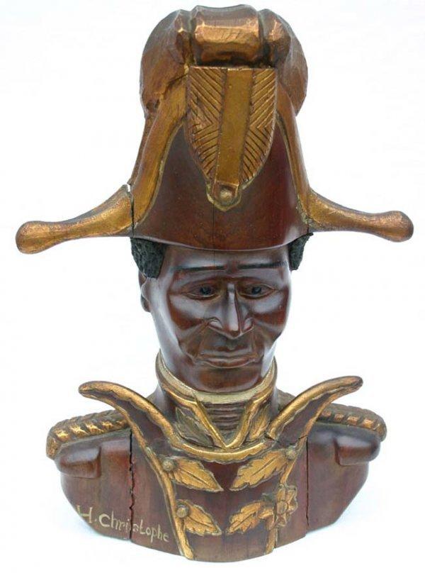 1198: Wonderful early 19th C Santo Domingo mahog carvin