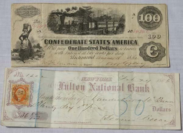 10C: One Hundred Dollar Confederate note – Richmond Aug
