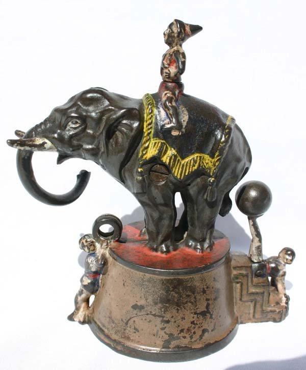 1: antique cast iron mechanical bank by J.E. Stevens 18 - 2