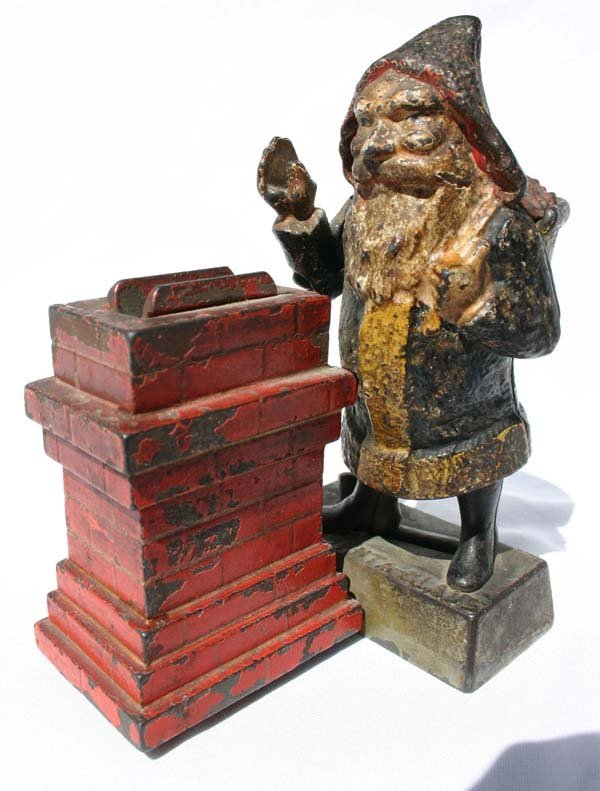 12: antique cast iron mechanical bank by Shepard Hardwa
