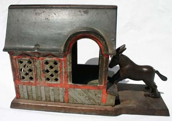 15: antique cast iron mechanical bank Kyser & Rex ca 18